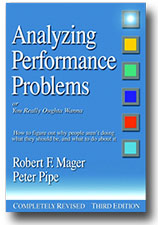 """Analyzing Performance Problems"" by Robert F. Mager and Peter Pipe"