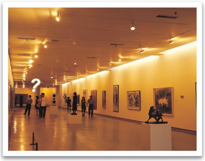 Walking through an art gallery