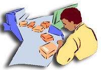 Man working on an assembly line