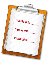 Clipboard with task list