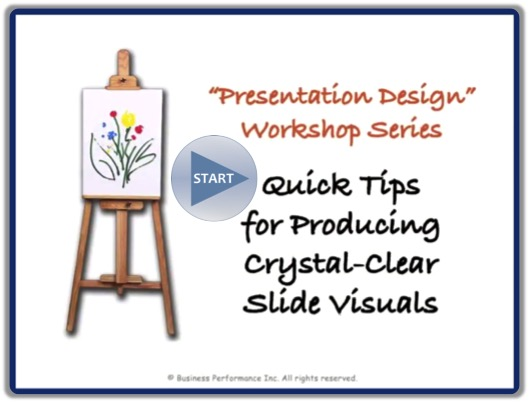 Video: Quick Tips for Producing Crystal-Clear Slide Visuals