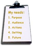 Needs assessment clipboard