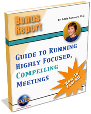 Guide to Running Highly Focused, Compelling Meetings