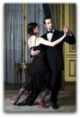 Two dance partners dancing
