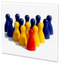 Game pieces depicting actionees