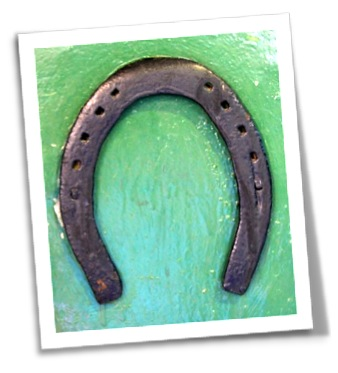 Horse shoe missing a nail