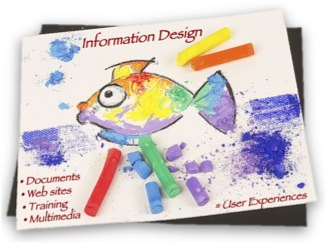"""Drawing depicting """"Information Design = User Experiences"""""""