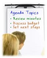 Flipchart with agenda