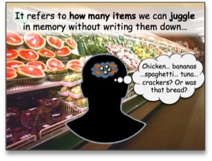 Limited working memory refers to how many items we can juggle in memory without writing them down