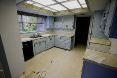 Photo of kitchen, before renovation