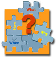 Puzzle pieces - what, how, when, why