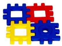 Puzzle pieces depicting a solution