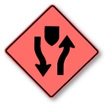 Detour roadsign