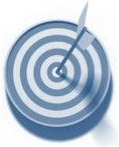 Target with bullseye arrow